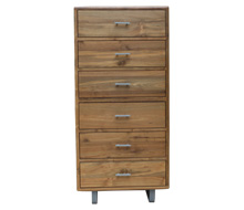 Arrondi Six-Drawer Tower Dresser