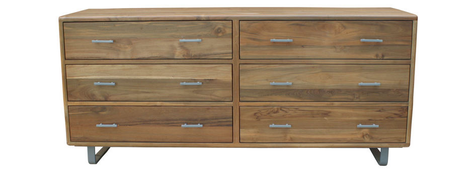 Arrondi Steel Six-Drawer Dresser