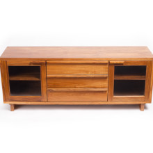 Klasik Two-Door Three Drawer Media Cabinet Honey Finish