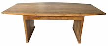 Elliptical Farmhouse Dining Table