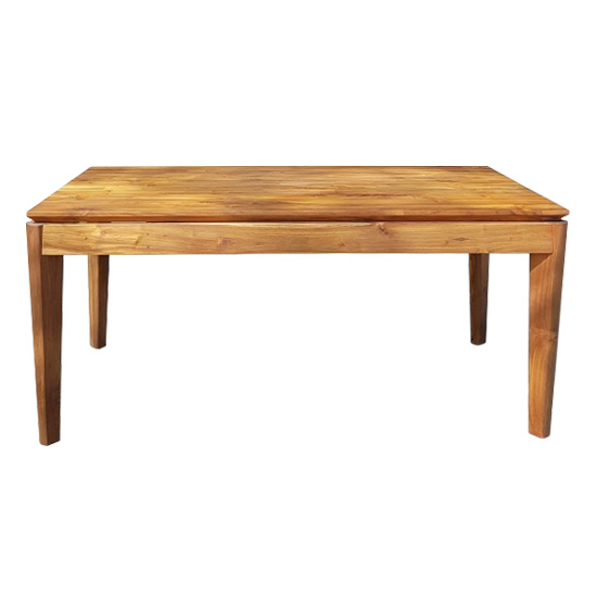 Our Bellini Dining table in a natural finish comes with a self storing leaf and pairs beautifully with our Belleni dining bench