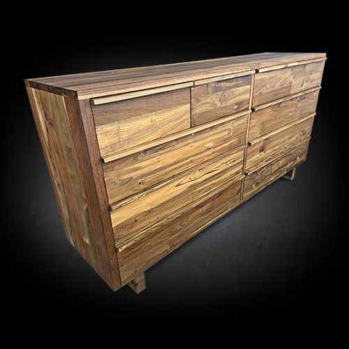Modern Ten Drawer Barnese Split Dresser - Solid Reclaimed Teak Wood