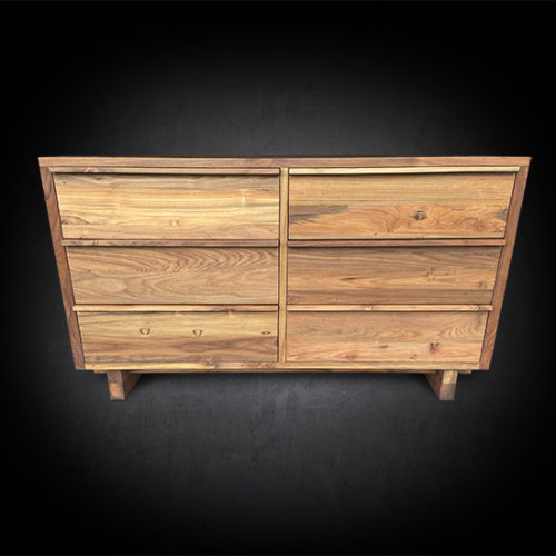 Modern Six Drawer Barnese Dresser - Solid Reclaimed Teak Wood