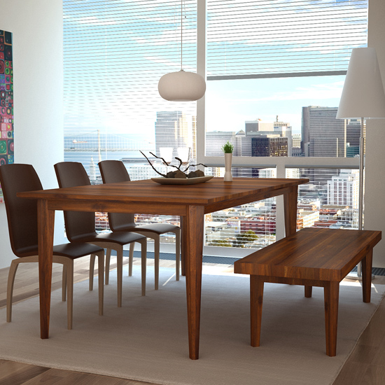 Our Belleni Dining Table is a simple, elegant design.