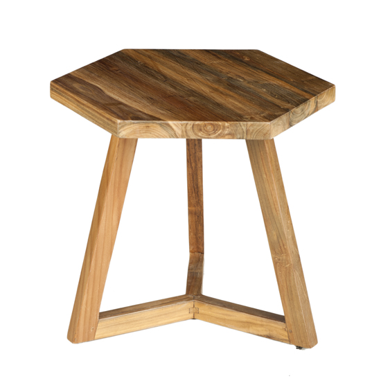 Our single Hexi End Table is endlessly functional. Use it alone as an end table, buy a few and group them as a coffee table or use them as stools.