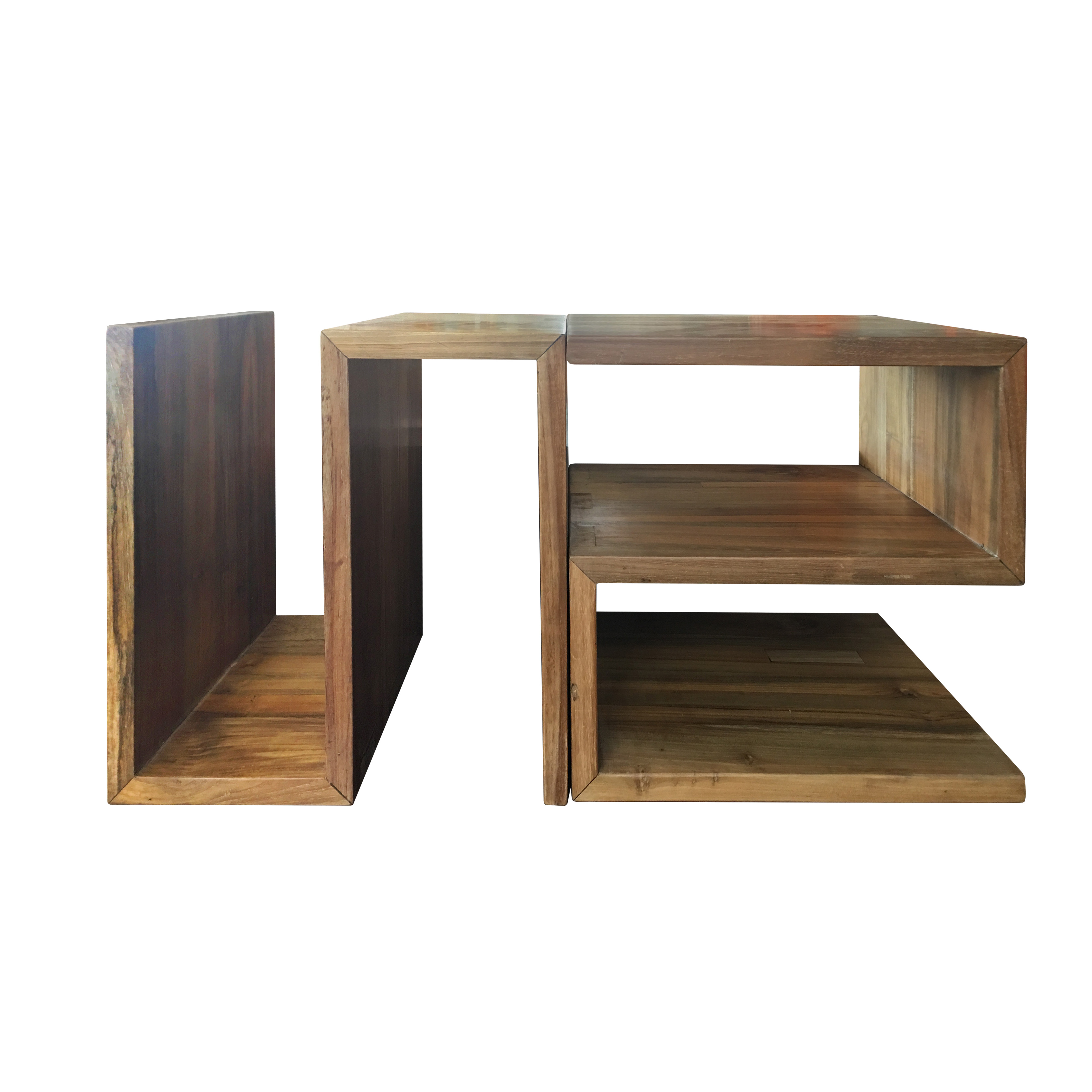 Our S End Table can be used alone or grouped together to form a coffee table or bookshelf.