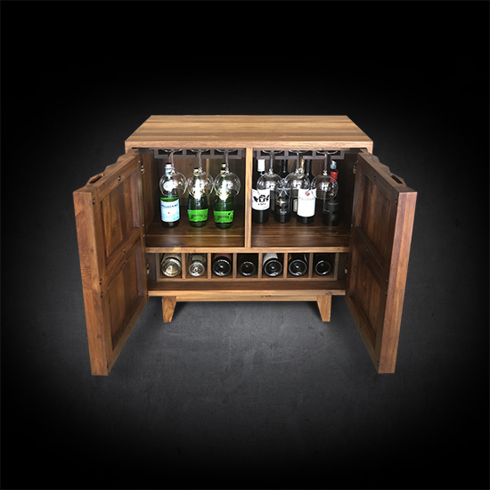 The Ravere Bar Cabinet lifts cocktails to the next level.