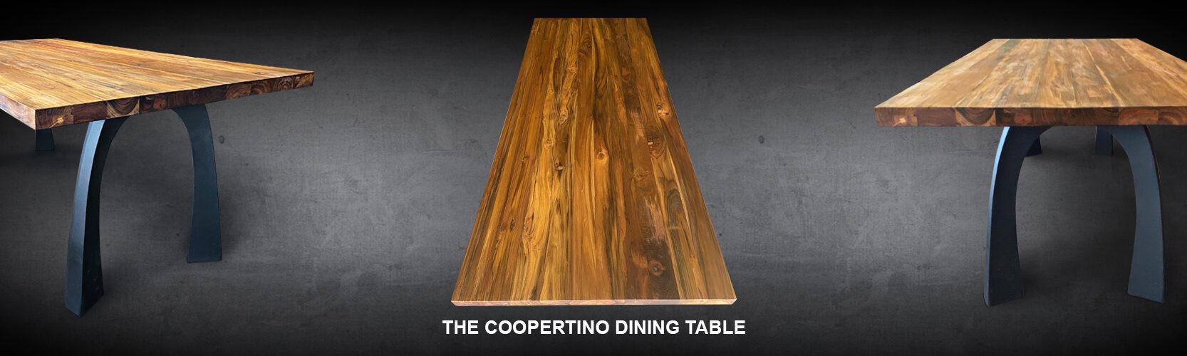 Coopertino Dining Table Reclaimed Teak Wood Modern Wishbone Iron Base