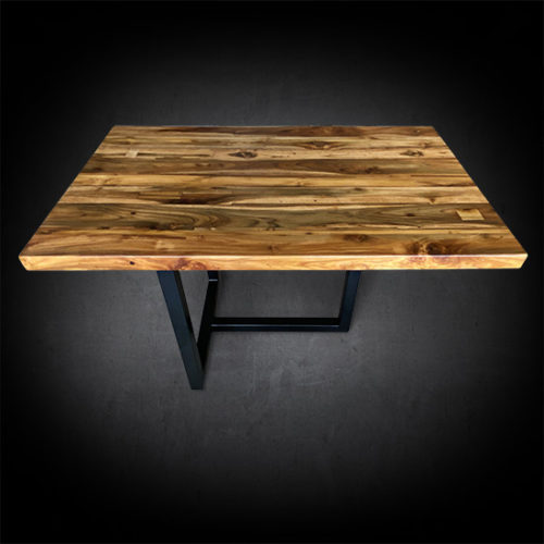 Deane Nook Dining Table Reclaimed Teak Wood & Iron