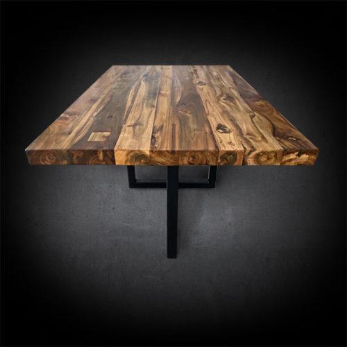 Deane Nook Dining Table Reclaimed Teak Wood & Iron