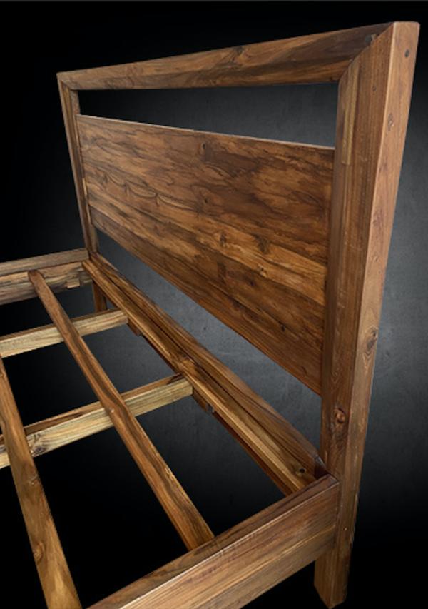 Ravere Platform Bedframe Handcrafted Reclaimed Teak Wood